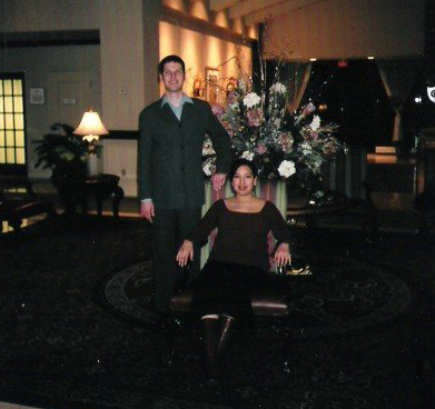 Nathaniel Christopher and Tanya Gill Lalonde in 2003.